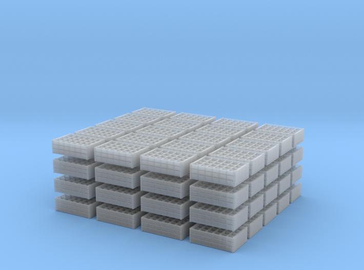 1:35 Wooden Bottle Crates - 80 ea 3d printed