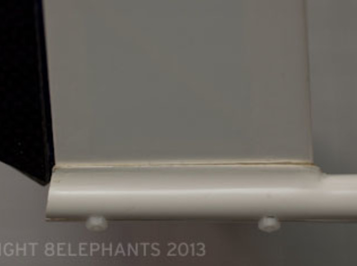 V-Tail Clamp: 105.5 degrees for Passer/X, etc. 3d printed Side View: Option #2 Installation