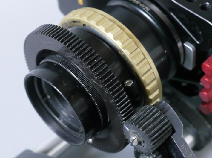 Arri .8 pitch follow focus Gear Cooke Panchro 3d printed Follow focus ring on 50mm Cooke Panchro (with PL adapter to M43))