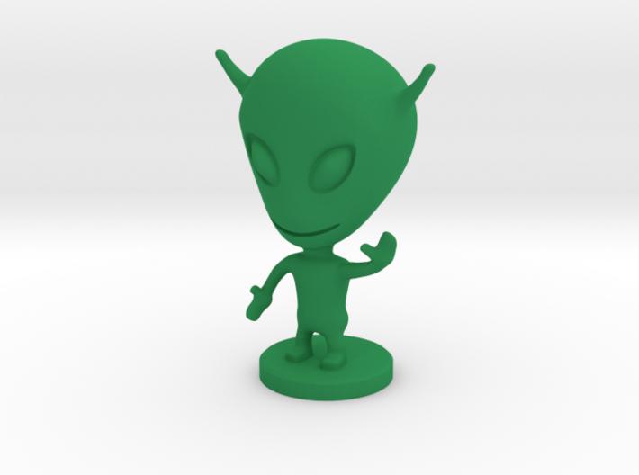 ALIEN v.3 3d printed Green Strong & Flexible Polished