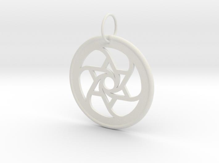 Spiral Star Pendant 3d printed