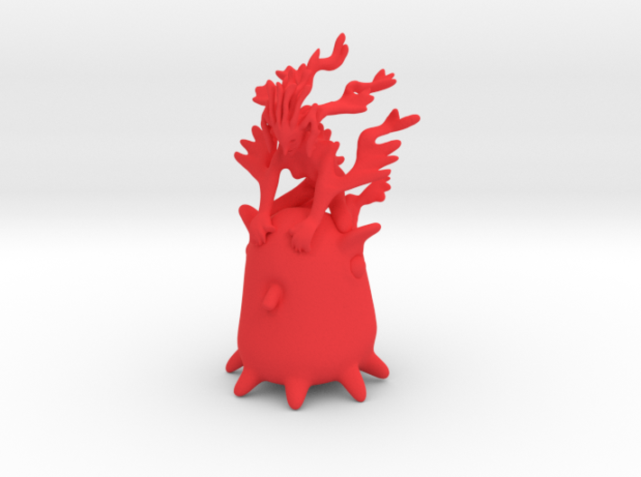 Ermaid riding Grimpoteuthis 3d printed
