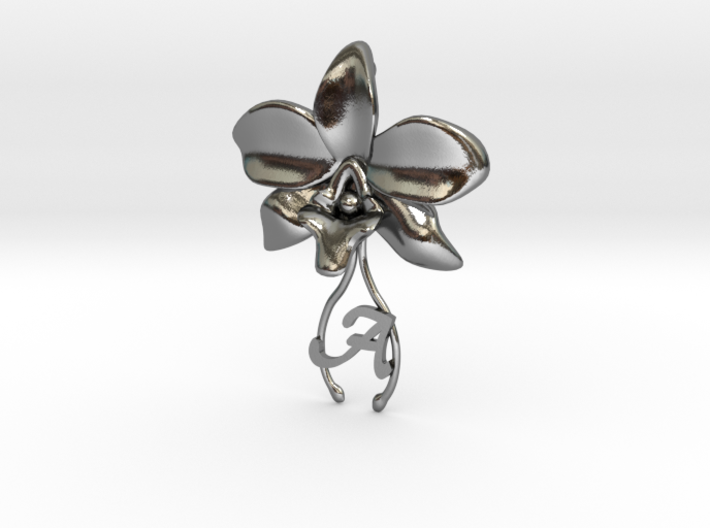 Orchid pendant 3d printed