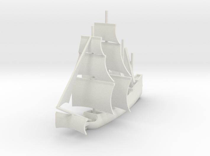1/1000 Sailing Steam Galleon 3d printed