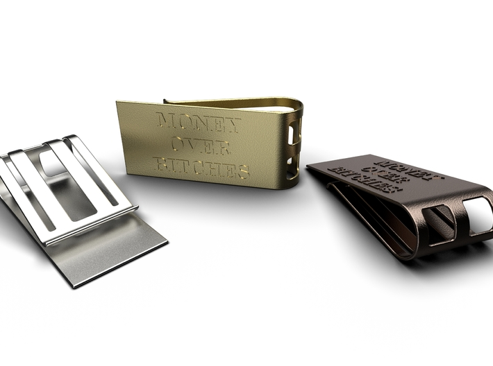 Money Over Bitches Money Clip 3d printed