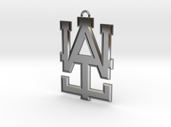 2 inch WAI Symbol Beveled Pendant 3d printed