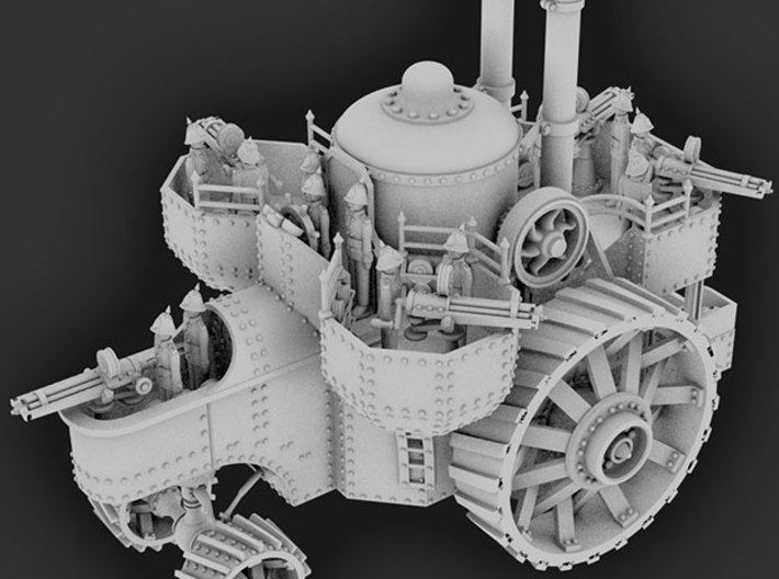 HMSLS Improbable 3d printed Blender render - note that crew figures are not included with this model.
