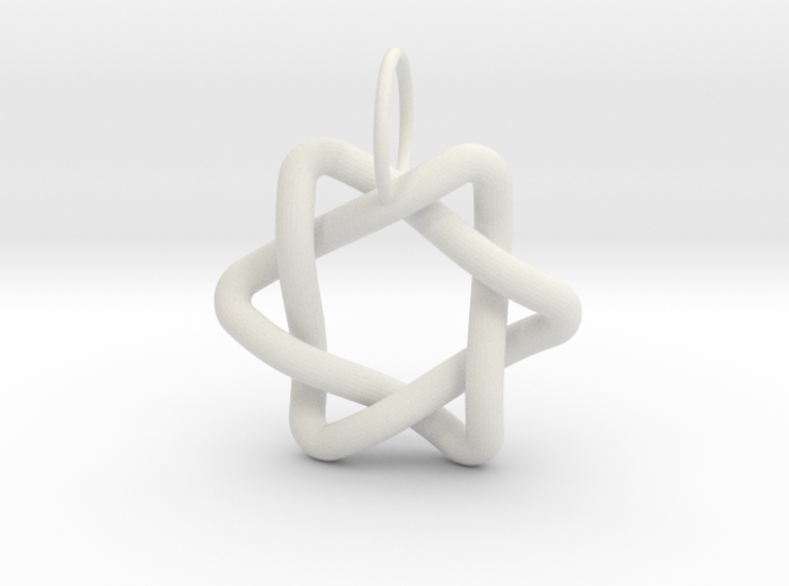 Interlacing Triangle Pendant 3d printed
