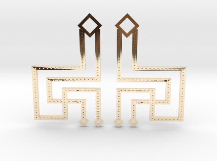 Loft Female- Earrings 3d printed