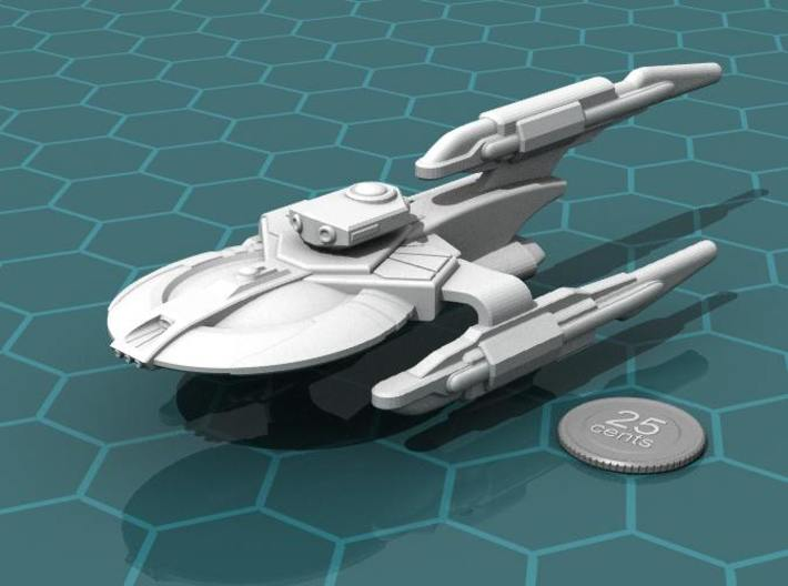 Xuvaxi Executor 3d printed Render of the model, with a virtual quarter for scale.