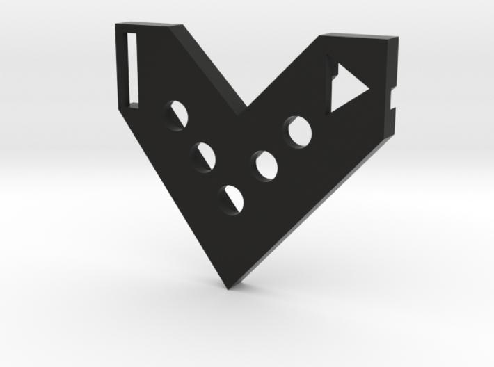 FlyingV-badge2 3d printed