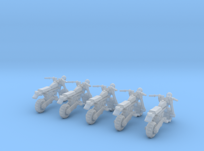 28mm Moped model 3 (X5) 3d printed