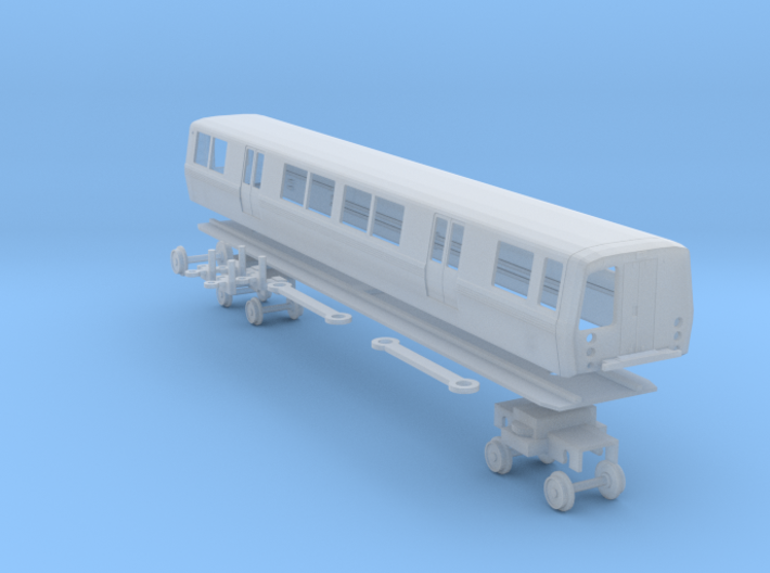 N Scale BART C Car Unpowered 3d printed