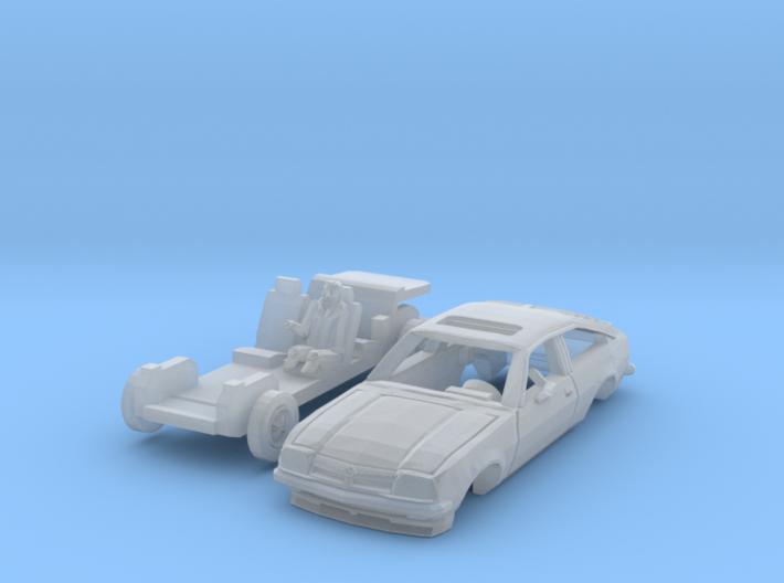 Opel Manta CC mit Fahrer (N 1:160) 3d printed