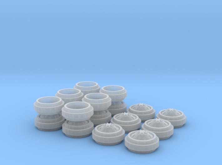 1/64 Alcoa Dually Rims 3 Sets 3d printed