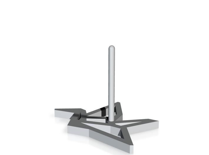 Earring Crane Right metal 3d printed