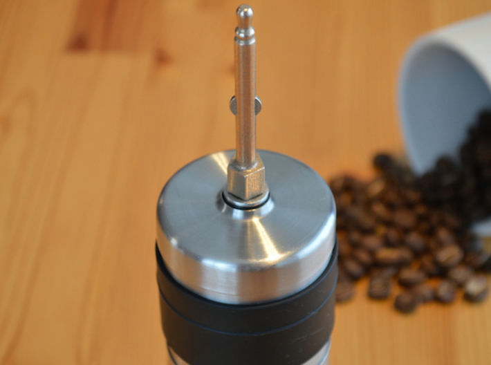 NEW! Coffee Grinder Bit For Hand Mixer CHP-A1RE 3d printed With Porlex Mini Stainless Steel Coffee Grinder