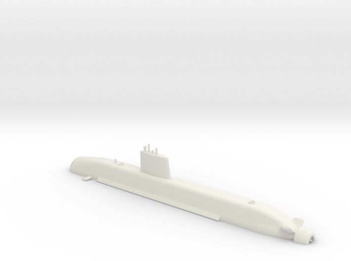 1/700 Barracuda Class Submarine (Waterline) 3d printed