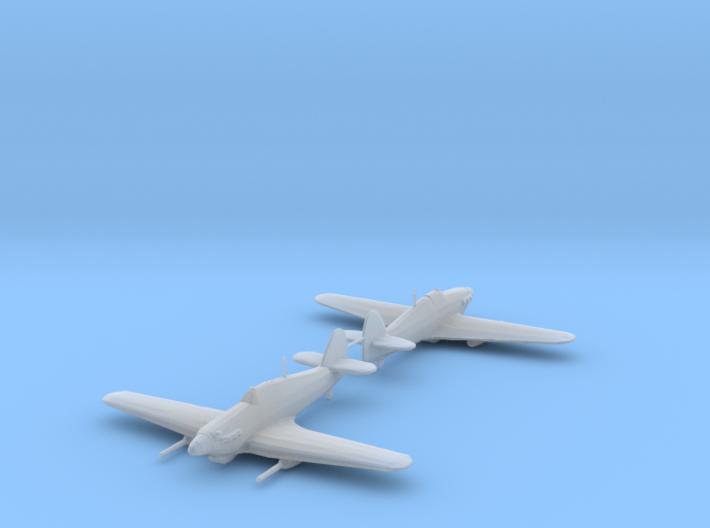 Hawker Hurricane Mk.IV w/ Vickers S 1/200 HDA x2 3d printed