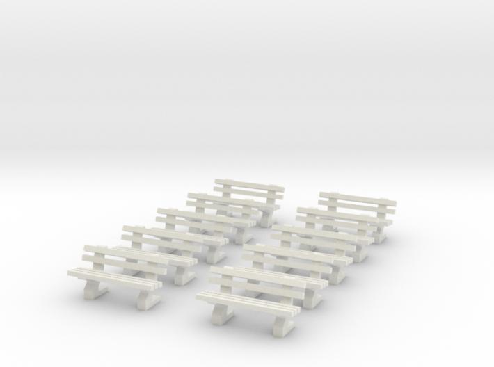 [10st] Parkbankjes 1:87 (H0) 3d printed