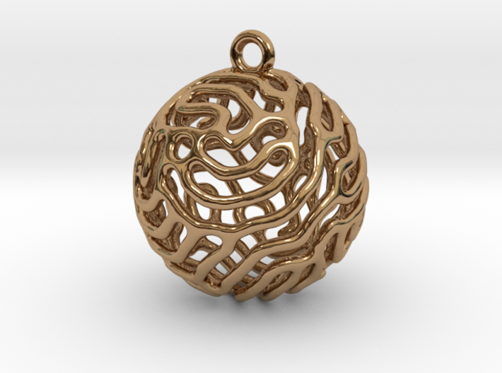 Reaction Diffusion Earring II 3d printed