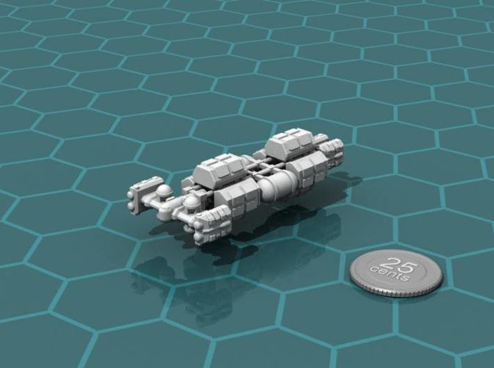 Cargo Tug: Loaded 3d printed Render of the model, with a virtual quarter for scale.