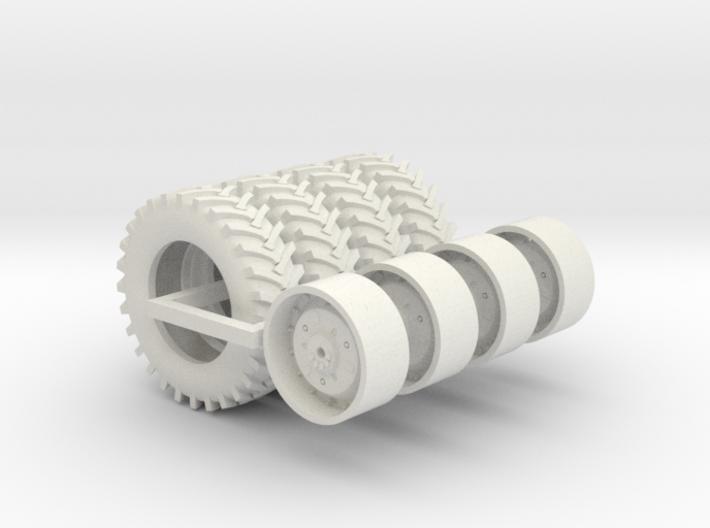 1/64 4 x 5020 Wheels And 4 x 20.8-38 Firestone 23 3d printed