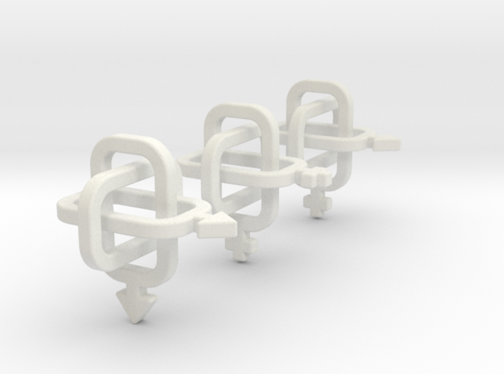 equivalent Borromean rings 3d printed