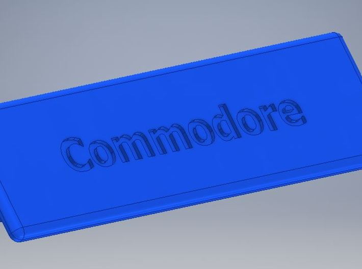 """Chameleon 64 housing """"Commodore"""" (cover - part 2) 3d printed"""