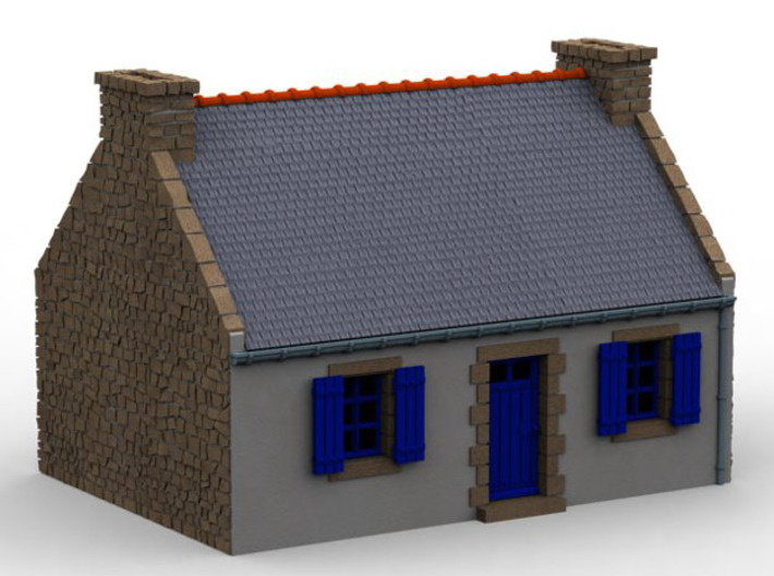 HOvMb02 - Brittany village 3d printed