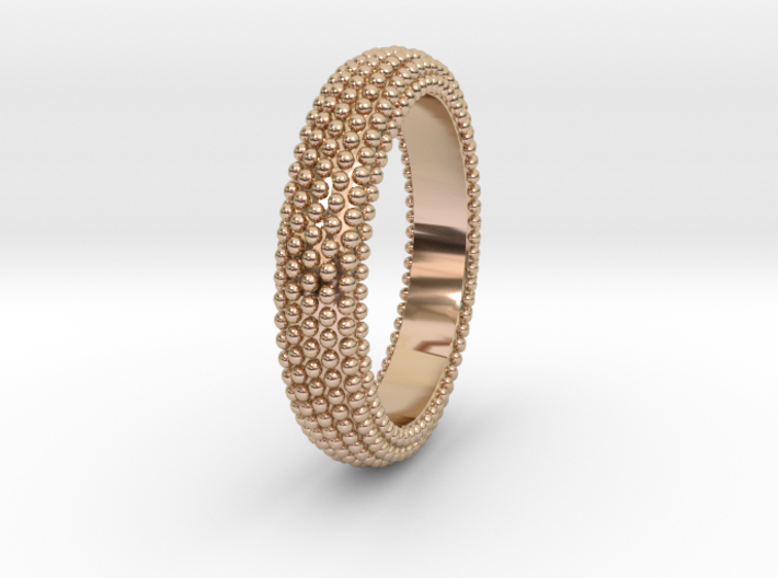 POMPEI Ring 3d printed POMPEI Ring in 14k Rose Gold Plated