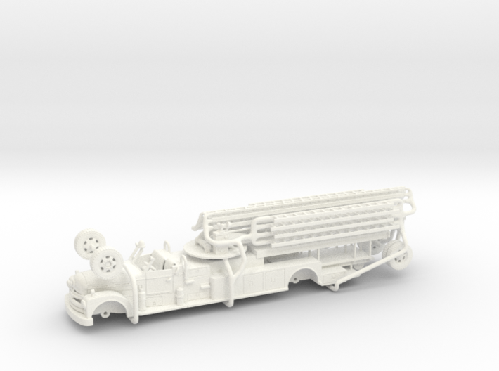 Seagrave 1951 1:87 3d printed