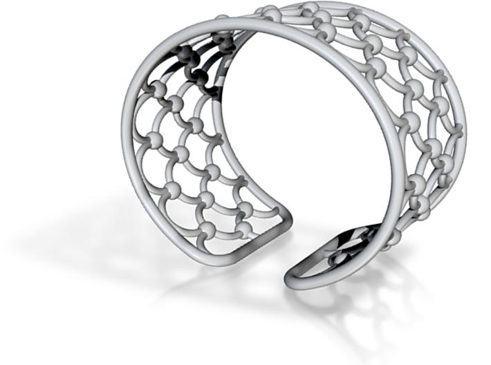 Peafowl Bracelet 3d printed