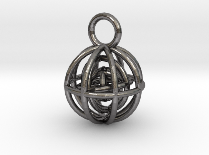 Charm: Spheres within Sheres 3d printed