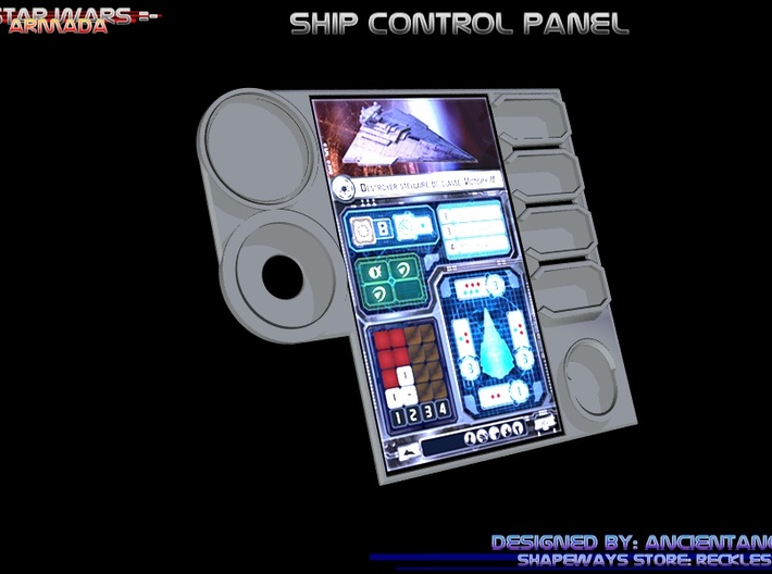 Ship Control Panel 3d printed