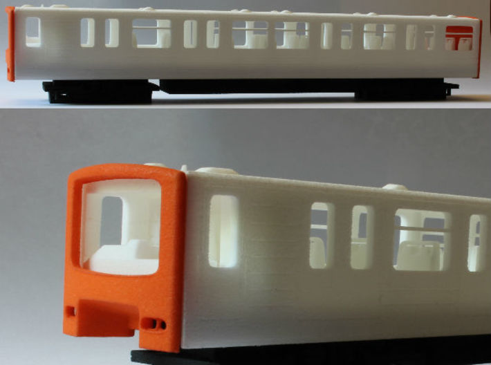 Brussels Metro M1 Chassis 3d printed