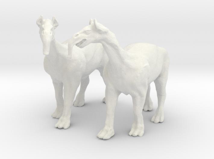 Macrauchenia -Fantasy beast of burden for wagons 3d printed
