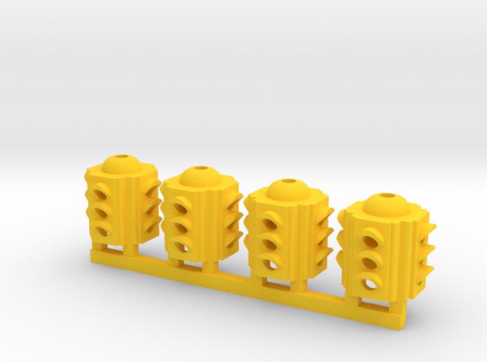 Traffic Light 4 Way Body (Qty 4) - HO 87:1 Scale 3d printed