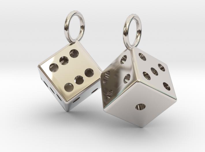 Charm: 2 Dice 3d printed