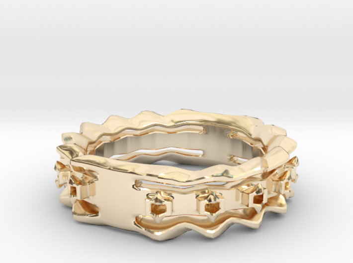 Wave Ring Size8 3d printed