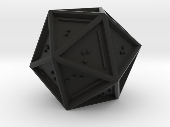 Braille D20 Mark II 3d printed