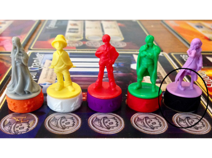 Argent Bases - Mysticism (7 pcs) 3d printed Picture courtesy of user kevinpdx on BGG. Game miniatures and board copyright Level99 games.