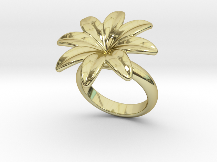 Flowerfantasy Ring 19 - Italian Size 19 3d printed