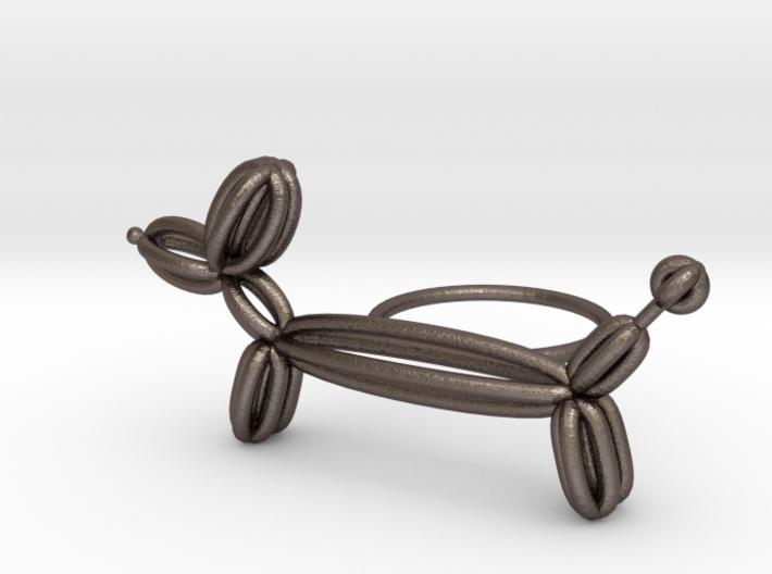 Long Balloon Dog Ring size 2 3d printed