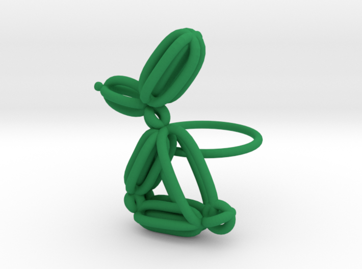 Balloon Rabbit Ring size 1 3d printed