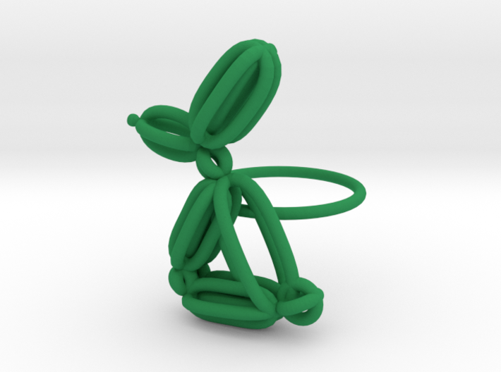 Balloon Rabbit Ring size 2 3d printed