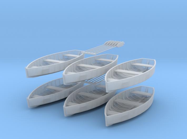 O scale Rowboat Set 6 ea 12 Paddles 3d printed