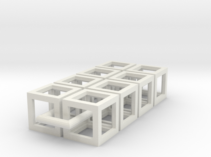 Eight cubes 3d printed