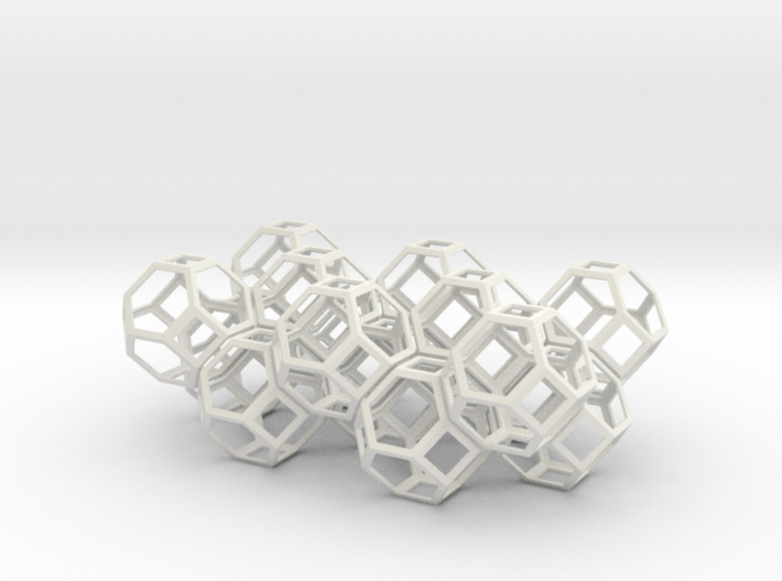 Space filling truncated octahedra 3d printed