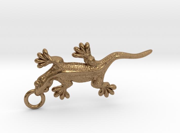 Gecko pendant 3d printed